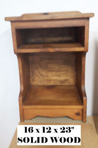 1 SOLID WOOD night stand