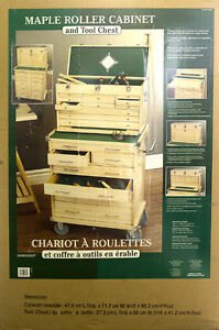Maple Roller Cabinet and Tool Chest, New in Box, $300.00