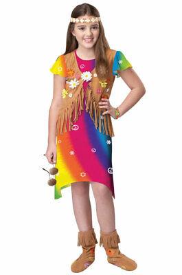 Brand New Hippie Flower Child Free Love Child Costume - Hippie Flower Child