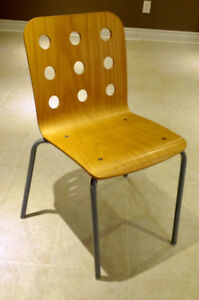 """IKEA """" Jules""""  Yellowish Brown Wooden Desk Chairs"""
