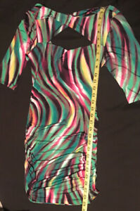 Sexy 70's inspired ladies cut-out dress