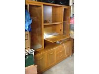Large living room display unit with built-in drinks cabinet