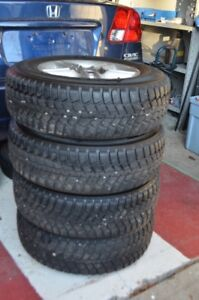 KUMHO WINTER TIRES WITH ALLOY RIMS SET OF FOUR