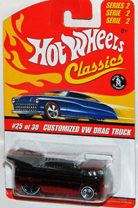 Hot Wheels Classics 1/64 Customized VW Drag Bus Red