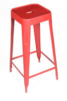 INDUSTRIAL RESTAURANT TOLIX STYLE METAL BAR STOOL