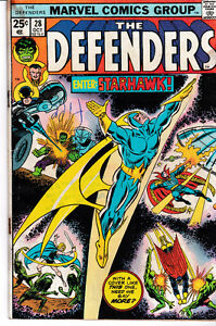 Defenders Comics including 1st Full Appearance of Starhawk