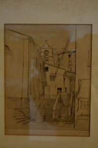 Line Drawing of a Church by French artist J. L. Viard