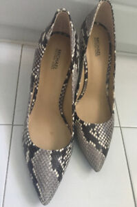 Michael Kors Snake-Skin 3-inch Heels with Pointy Toes, size 9