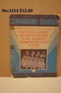 Feuilles de musique Les Compagnons de la Chanson