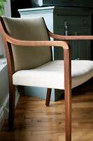 Chaise fauteuil en teak teck mid century sofa vintage