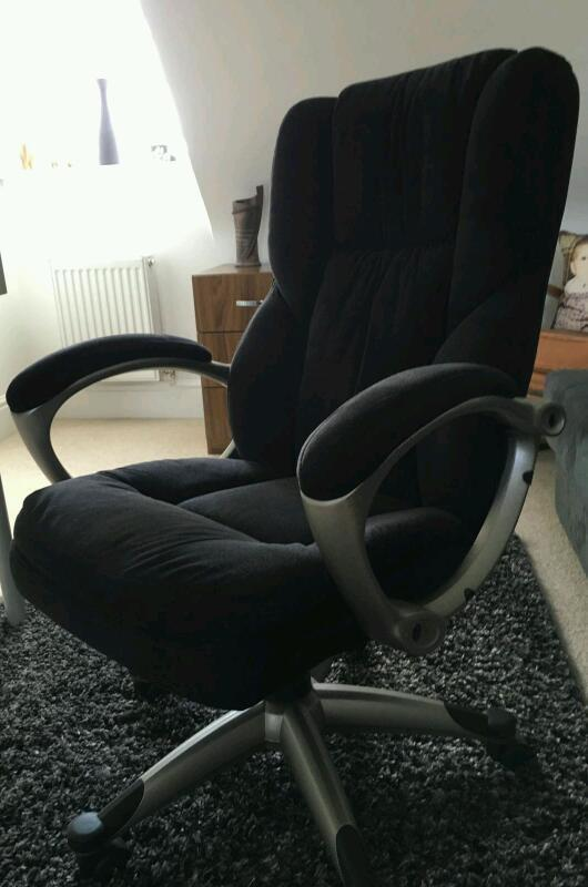 Suede Material Swivel And Reclining Computer Chair In Leicester - Office chairs leicester