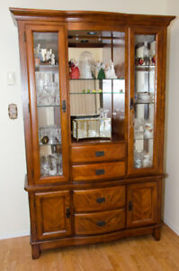China Cabinet and Hutch $189.00