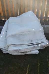 white heavy duty tarp