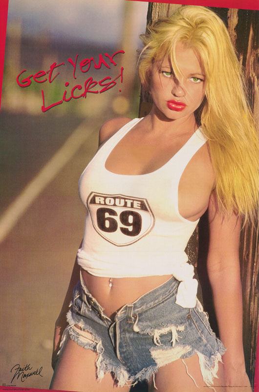 POSTER - GET YOUR LICKS - FAITH MAXWELL SEXY MODEL- FREE SHIPPING ! #3222 RP93 N