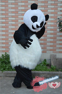 Panda Halloween Outfits (Halloween Chinese Panda Mascot Costume Adult Cosplay Party Birthday Dress)