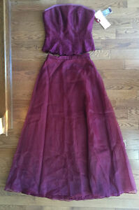 *NEW*MORI LEE FULL-LENGTH CHIFFON BRIDESMAID/PROM DRESS SZ 13-14