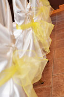 Wedding Silk Chair Covers to Rent