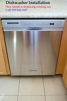 Dishwashers Professinal Installation by Experienced Installer...