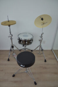DW Snare drum, low volume cymbals