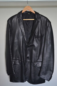 DESIGNER Concepts by Claiborne Men's 100% Genuine Leather Jacket