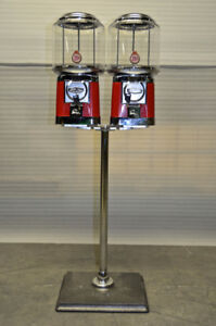 2 Brand New Beaver Gumball Machines On Chrome Stand!!
