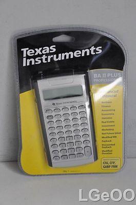 new texas instruments ba ii plus professional advanced financial calculator ebay