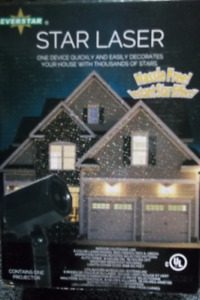 Star Laser CHRISTMAS projector spotlight for yard/home. NEW