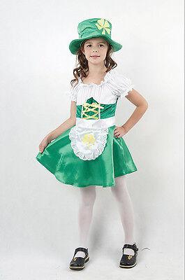 GIRLS IRISH LEPRECHAUN ST PATRICKS DAY FANCY DRESS COSTUME - Girls Leprechaun Costume