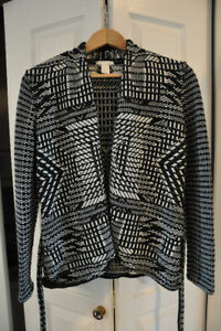 H&M 100% Cotton Sweater with Belt Size Medium