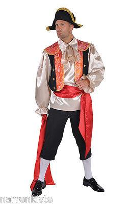 kämpfer Matador Kostüm Herren Spanier Karneval Fasching (Herren Matador-kostüm)