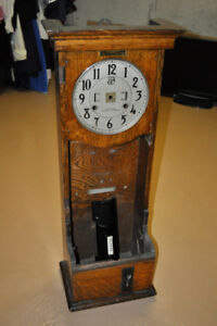 Antique Time Clock Cabinet