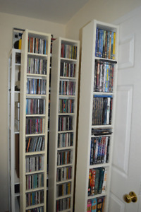 (3) IKEA Benno CD/DVD shelves/rack towers