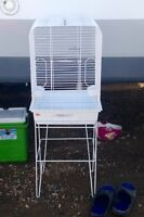 Bird cage and stand. Great condition