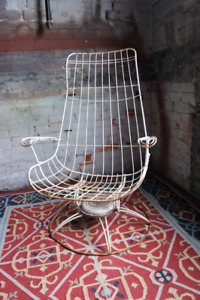 Vintage Mid Century Homecrest Wire Chair Swivel Base