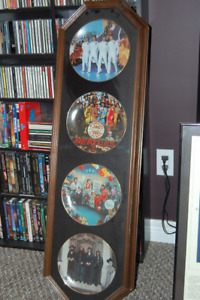 The Beatles collector Plates  Framed Delphi