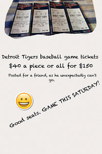 Tigers Tickets this Saturday