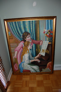 Gorgeous, Oversized Authentic Hand Painted Replica