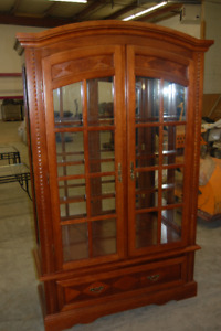 REDUCED!!! Antique Wood China Cabinet