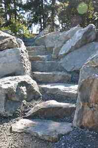Rock walls, retaining walls, Ponds