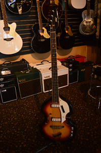 Vintage Vox Bass Guitar With Case