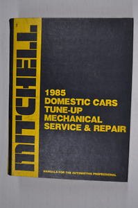 Domestic Cars Tune-Up Mechanical Service and Repair, 1985