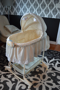 BILY 2-in-1 Bassinet - Sheep pattern, light taupe