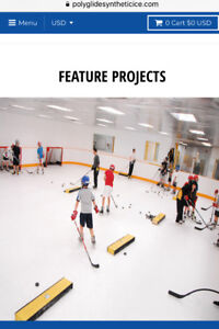 Indoor Ice - Polyglide Synthetic Home Ice Panels