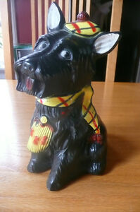 Vintage Black Scottie Dog Bank