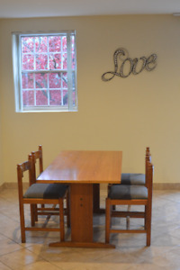 Excellent Cond. Solid Wood Dining Set With 4 Chairs only $150!!!