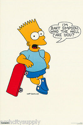 - POSTER :TV ANIMATION : BART SIMPSON SKATEBOARD  -   FREE SHIPPING ! #37   RBW4 S