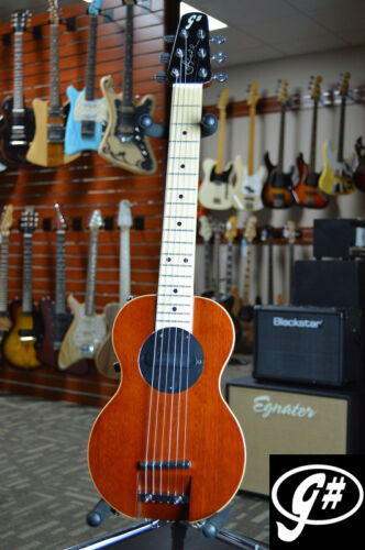 G-Sharp OF-1 Electric Travel Guitar (Natural Finish, g# tuning, comes w/ gigbag)