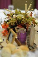 Fall Wedding flowers / centrepiece