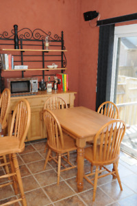 Natural Maple Solid Wood Kitchen Set