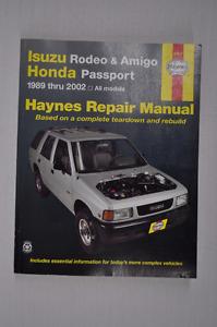 Haynes Repair Manual - Isuzu & Honda